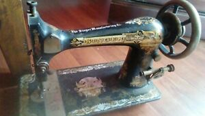 Antique Singer Treadle Sewing Machine 1d213678 1900