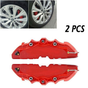 2x Universal Car Wheel Brake Caliper Cover Front Rear Dust Resist Useful