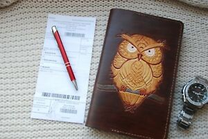 Conference Leather Folder A 5 writting Case holder pen universal owl gifts
