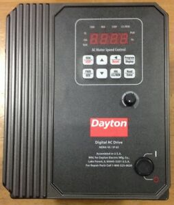 Dayton 13e652 Ac Motor Speed Control New
