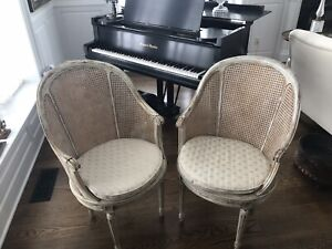 Vintage Pair Of Double Caned Chairs