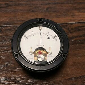 Vintage Weston Panel Mount Model 1521 Meter Industrial Gauge Steampunk