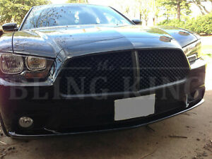 2011 2014 Dodge Charger Black Mesh Grille Bentley Grill Trim Full Replacement