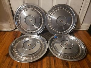 Set Of 4 Oem 1979 93 Cadillac Fleetwood Brougham Rwd 15 Hubcaps Wheel Covers