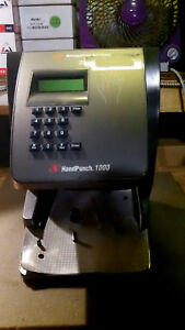 Handpunch Hp 1000 Recognition System Adp Time Clock Parts Repair Power On Only