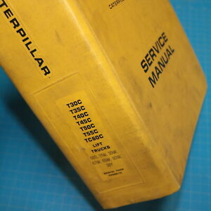 Caterpillar T30c T35c T40c T45c T50c T55c Tc60c Forklift Shop Service Manual Cat