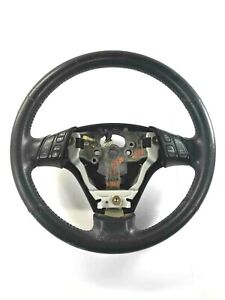 Steering Wheel With Switch Cover Leather Black Mazda 3 Mazda3 2004 Oem
