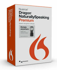 Dragon Naturallyspeaking Premium 13 With Digital Recorder New Retail Box