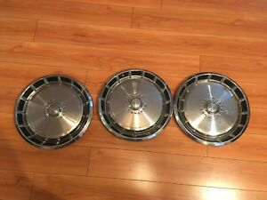 3 Vintage 1970 s Ford Mustang Hubcaps