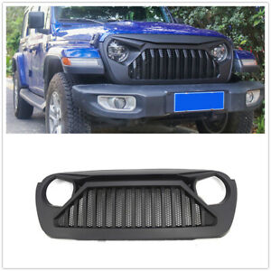 Front Grille Grill For 2018 2019 Jeep Wrangler Jl Matte Black