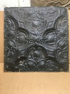 1pc 24 X 24 Full Piece Antique Ceiling Tin Vintage Reclaimed Salvage Art