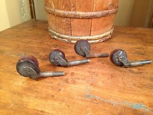 Antique Cast Iron Casters Wheels Industrial Factory Cart Table Wheels