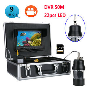 Underwater Fishing Camera Fish Finder 9Inch DVR Recorder 22 LEDs Rotating Camera