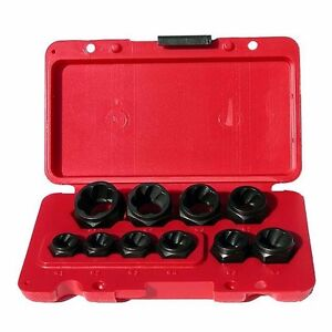 Craftsman 10 pc Low Profile Bolt out Rounded Damaged Nut Remover Socket Set New