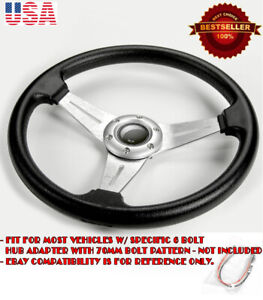 13 5 Pvc W Brushed Silver Spokes Steering Wheel Horn Button For Honda Acura