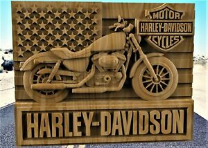 Harley Davidson Relief 3d Model Relief For Cnc In Stl File Format