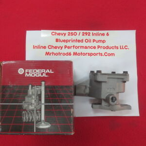 250 292 Chevy Inline 6 New High Performance Blue Printed Oil Pump