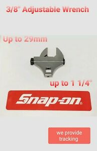 New Snap On Tools Adjustable Crowfoot Wrench 0 29mm 0 1 14 3 8 Drive Adcf8