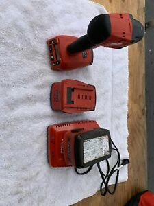 Hilti Siw 6aat a22 Cordless Impact Driver 2 Batteries Battery Charger Bundle