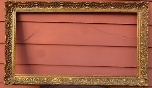 Arts Crafts Gold Gilt Large Ornate Picture Frame Will Custom Fit Painting
