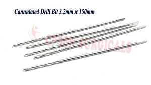 Surgical Orthopedic 3 2mm Cannulated Drill Bit For 4 0mm Cannulated Screw 5 Pcs