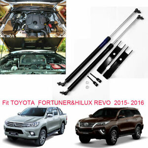 Front Bonnet Gas Struts Hood Lift Support For Toyota Fortuner Hilux Revo 2015 16