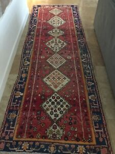 Antique Persian Rug Runner Mallayer Sarouk Lilihan Serapi 12x4