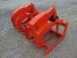 Kubota Skid Steer Attachment 66 Severe Duty Root Grapple Bucket Ship 199