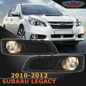 Fit Subaru Legacy 10 12 Clear Lens Pair Oe Fog Light Lamp wiring switch Kit Dot