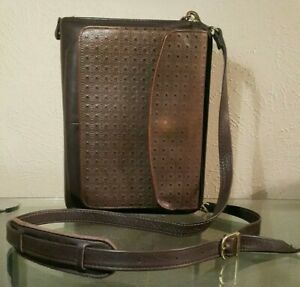 Franklin Covey 1 25 7 Rings Eggplant Leather Planner Binder Purse Organizer
