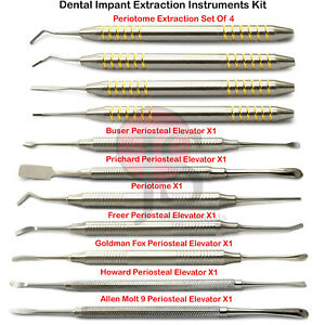 Implant Periosteal Elevator Dental Periotome Atraumatic Extraction Periodontal