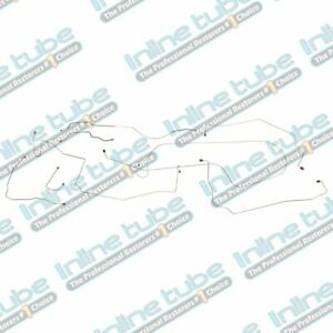 1971 1974 American Motors Amx Javelin Power Disc Brake Line Set Stainless Steel