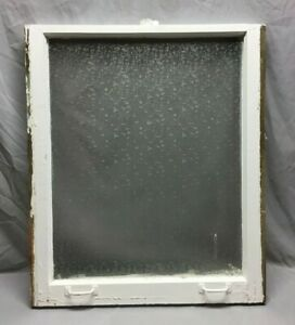 Antique Privacy Glass Window Sash Shabby Vintage Old Chic 29x34 303 19c
