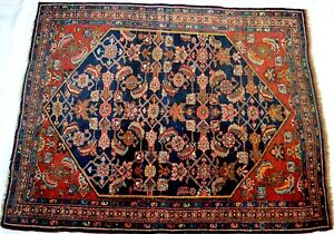 Antique Bijar Carpet Kurdish Bidjar Hand Made Vintage