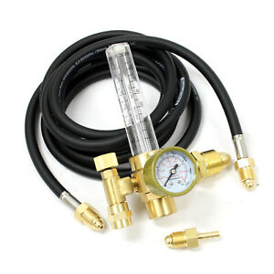 New Argon Co2 Flow Meter Regulator W 10 Ft Hose For Mig Tig Welding Weld Gauge