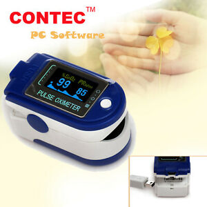 Contec Finger Tip Pulse Oximeter Spo2 Pr Heart Rate Blood Oxygen Pc Software