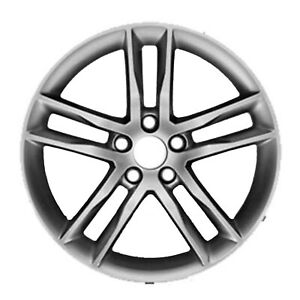 19 X 8 5 Double Spoke Oem Cadillac Alloy Wheel Machined And Light Silver 4742