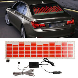 70 16cm Red Car Sticker Music Rhythm Led Flash Lamp Sound Activated Equalizer