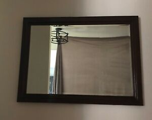 Stickley Traditional Mahogany Rectangular Beveled Glass Mirror