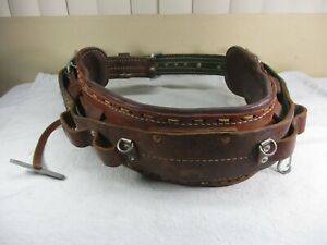 Bashlin Industries No 88 Leather Lineman Climbing Safety Tool Belt Size D 23
