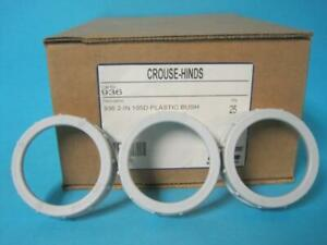 Brand New Case Of 25 Crouse Hinds Plastic Insulated 105d 2 Bushing Rigid