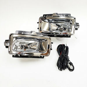 For 2014 2015 Chevrolet Silverado 1500 Clear Lens Fog Light With Brackets Switch
