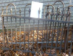 175 Antique Cast Iron Fence Architectural Salvage Wrought Star Finial Victorian