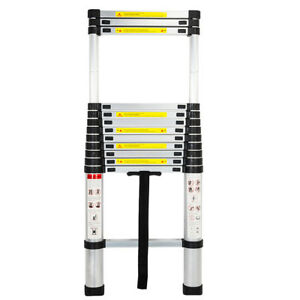New 12 5ft Anti pinch Aluminium Multi purpose Telescopic Ladder Extension Steps