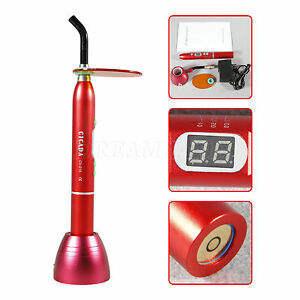 New Dental 10w Cordless Wireless Led Curing Light Lamp Teeth Cure 1800mw Red D2