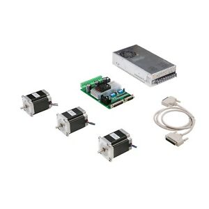 Free Ship 3axis Nema23 Stepper Motor 272oz in 4leads 3 0a Board Cnc Kit New