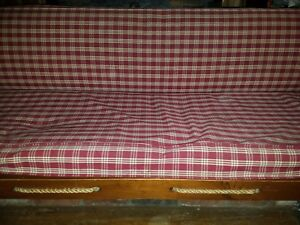 Vintage Workers Rope Wood Day Bed 6 Feet Long 72 Couch Sofa