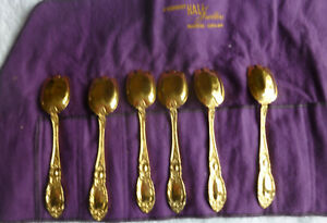 2 Towle King Richard Sterling Silver Vermeil Gold Ice Cream Fork No Motogram