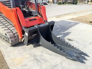 Bobcat Skid Steer Attachment Stump Bucket Extreme Duty Dig Spade Free Ship