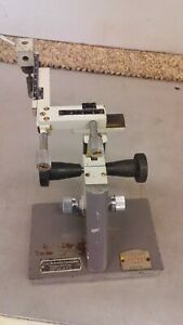 Vintage Micromanipulator By Prior Xyz Axis With Solid Base